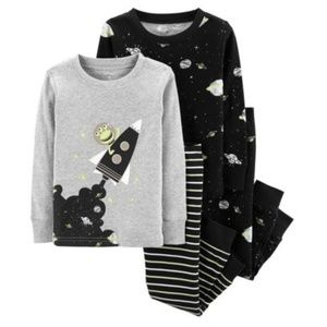 NWT Carter's Baby Boy 4pc Outer Space Pajamas Set